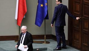 Premier Mateusz Morawiecki i prezes PiS Jarosław Kaczyński podczas posiedzenia Sejmu