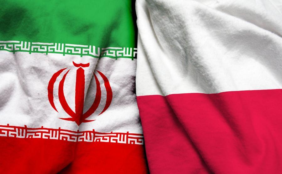 Flagi Polski i Iranu