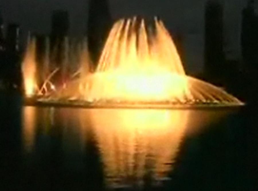 Niezwykły spektakl w superluksusowym Dubaju