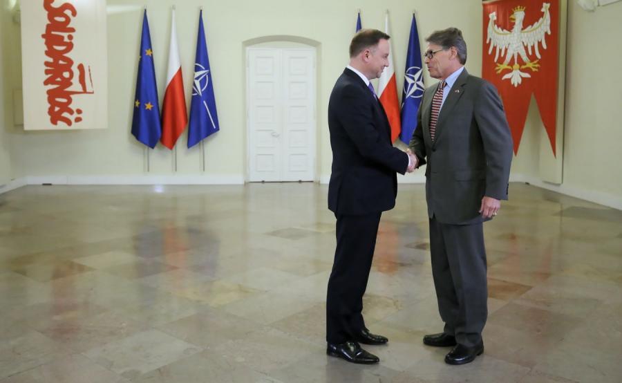 Rick Perry i Andrzej Duda