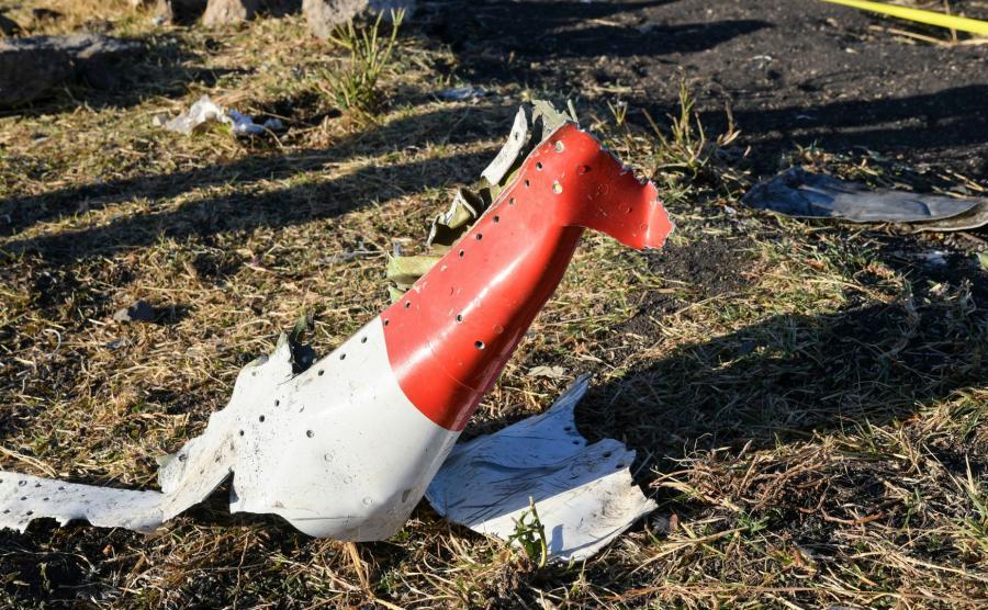 Miejsce katastrofy etiopskiego Boeinga 737 MAX