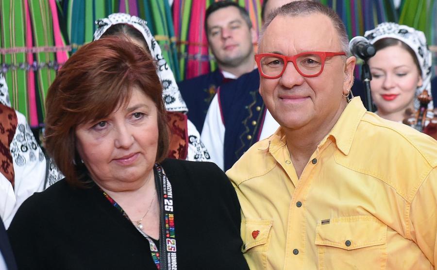 Jerzy Owsiak z żoną Lidią Niedźwiedzką-Owsiak