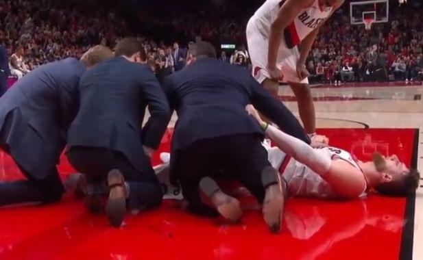 Koszykarz złamał nogę w trakcie gry