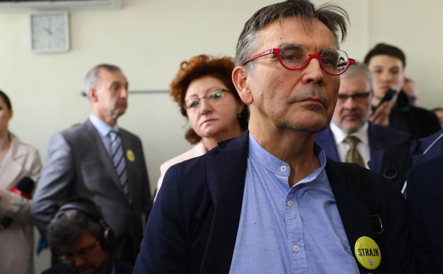 Wiceprezez Związku Nauczycielstwa Polskiego Krzysztof Baszczyński