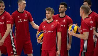 Zawodnicy siatkarskiej reprezentacji Polski podczas treningu kadry w COS Spała