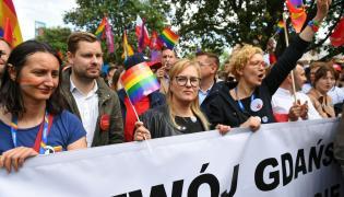 Magdalena Adamowicz uczestniczy w V Trójmiejskim Marsz Równości w Gdańsku