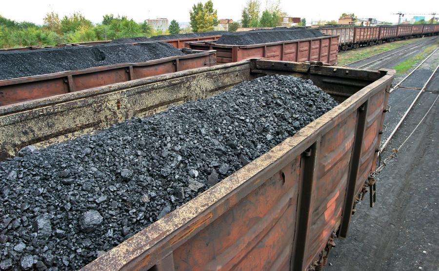 Wagony w rosyjskim węglem