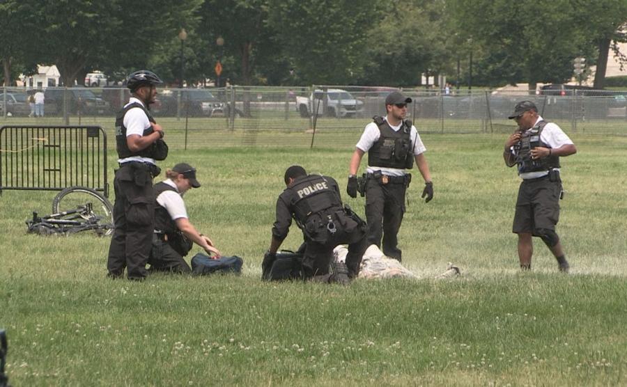 Mężczyzna podpalił się w parku otaczającym Biały Dom, agenci Secret Service zareagowali błyskawicznie