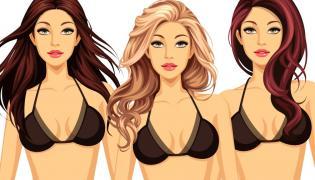 Kobiety z włosami różnych kolorów