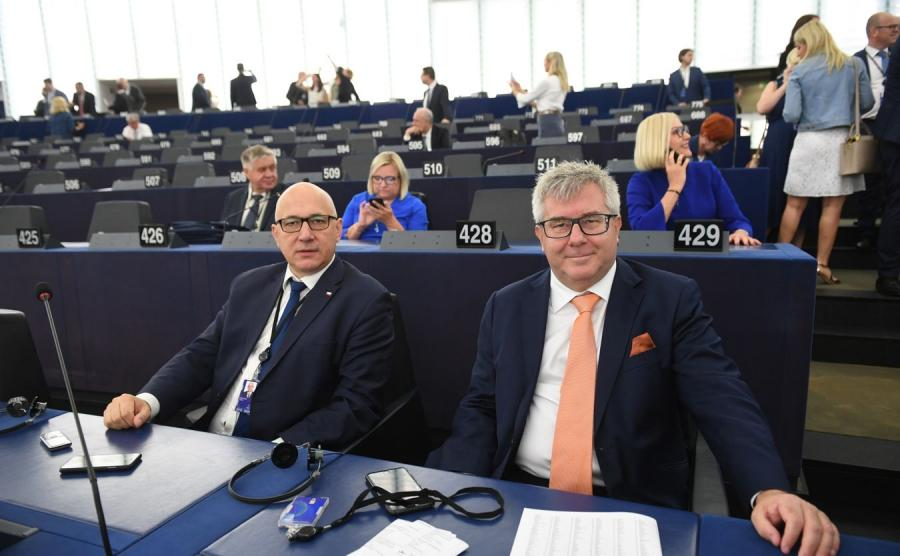 Joachim Brudziński i Ryszard Czarnecki