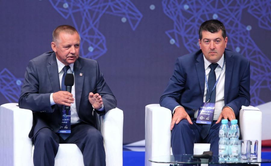 Minister finansów Marian Banaś i wiceminister finansów Leszek Skiba