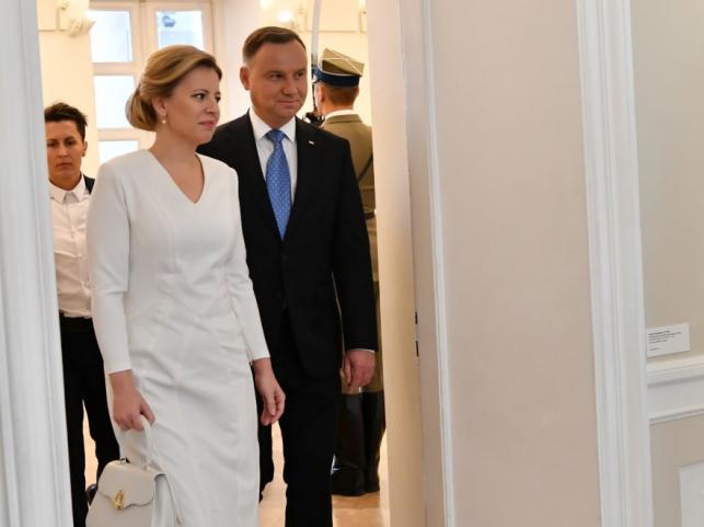 Zuzana Czaputova i Andrzej Duda
