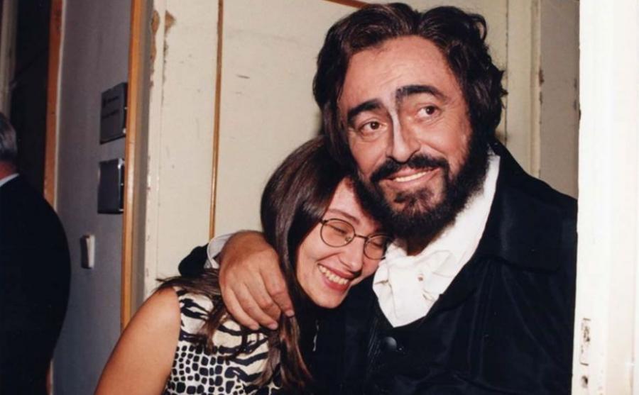Luciano Pavarotti i Nicoletta Mantovani