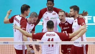 Polacy cieszą się podczas meczu turnieju kwalifikacyjnego siatkarzy do igrzysk olimpijskich