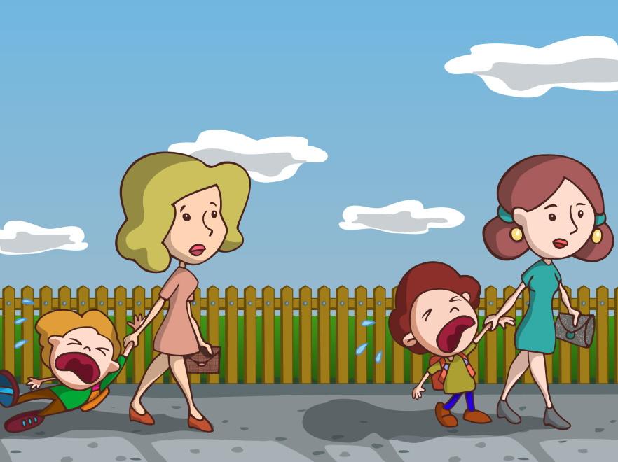 Matki z płaczącymi dziećmi