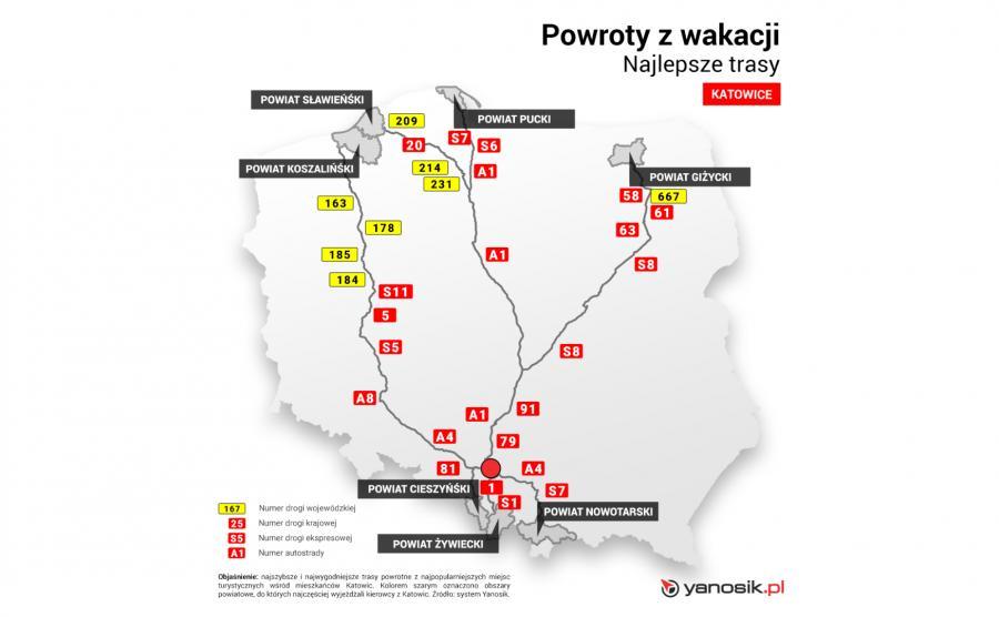 Najlepsze trasy - Katowice