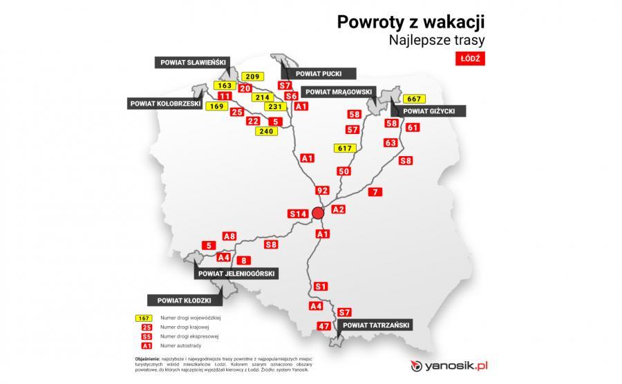 Najlepsze trasy - Łódź