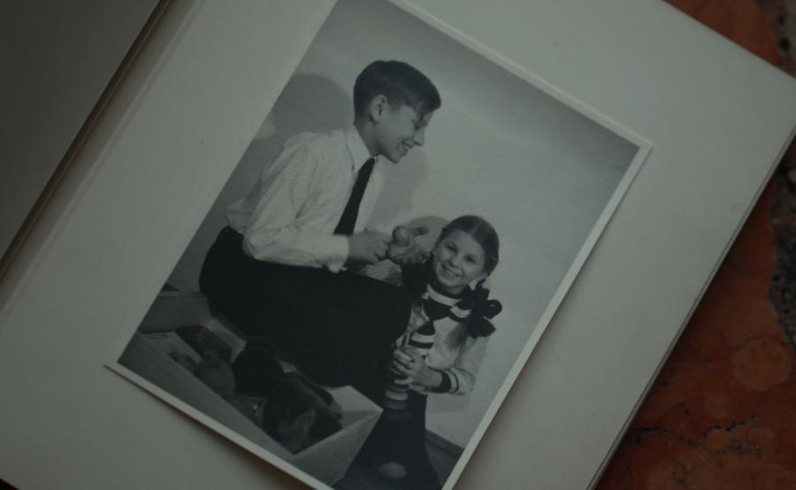 Anna Trzeciakowska z bratem tuż przed wyjazdem na wakacje