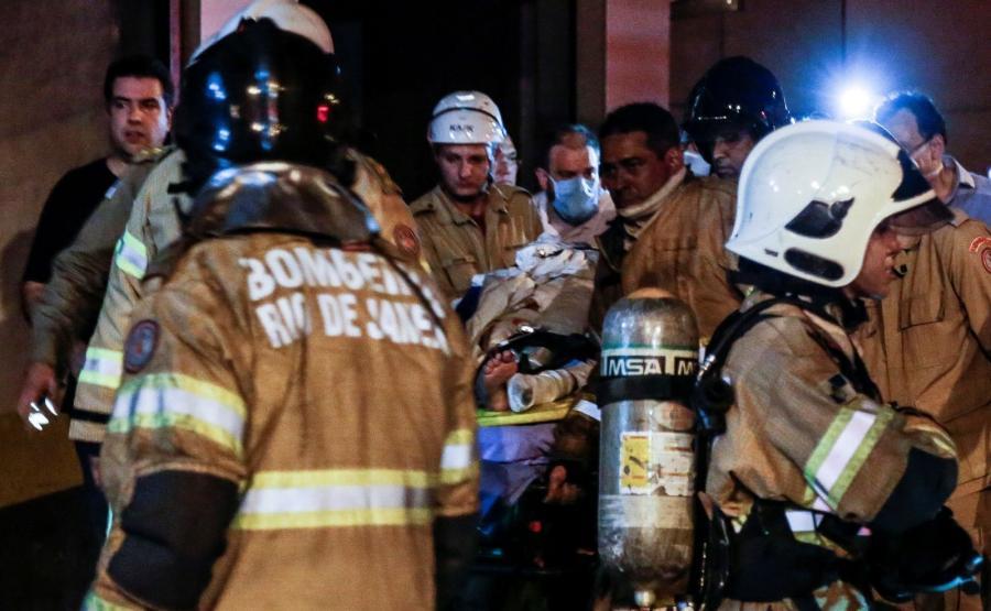 Pożar w szpitalu w Rio de Janeiro