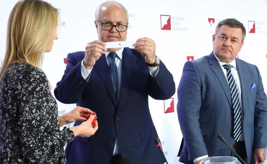Losowanie jednolitych numerów komitetów wyborczych w związku z wyborami do Sejmu i Senatu 2019