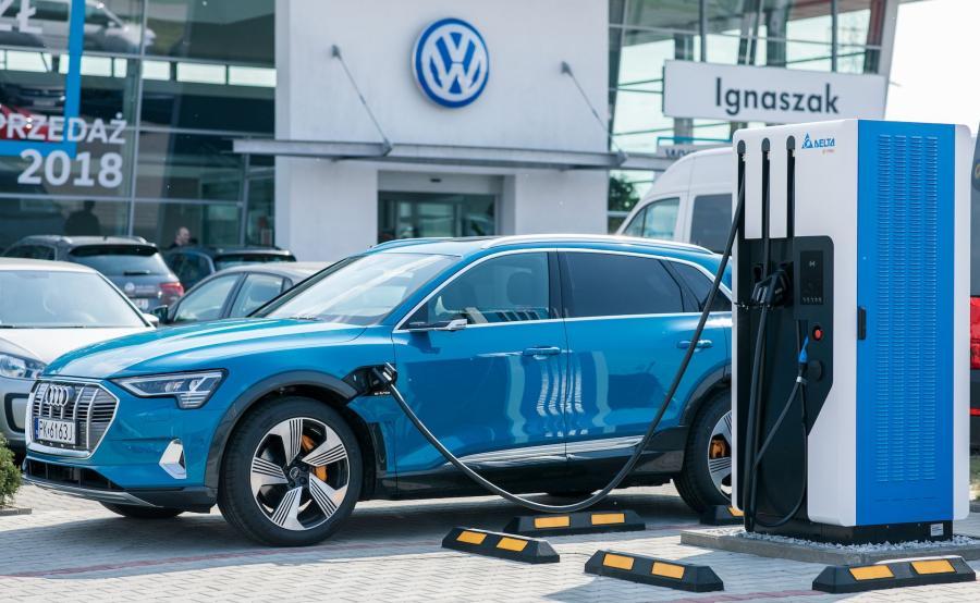 Do 2025 r. koncern zamierza uruchomić w Europie 36 tys. punktów ładowania. W Polsce, do końca przyszłego roku uruchomionych zostanie 350 publicznych stacji ładowania przy salonach marek należących do Grupy, niektóre z nich już działają. Ładowarka o mocy 50 kW zlokalizowana przy salonach Volkswagen i Audi firmy Ignaszak w Kaliszu zasilana jest z paneli fotowoltaicznych