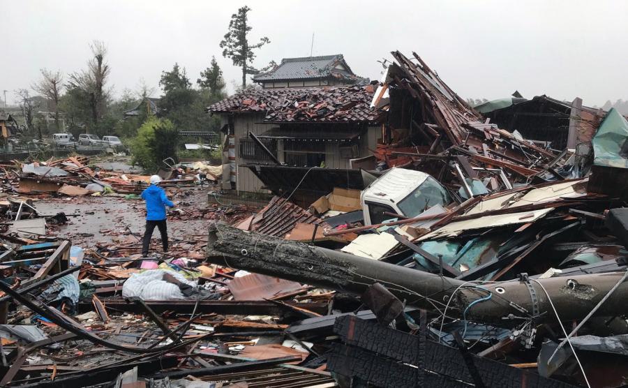 Japonia po przejściu huraganu