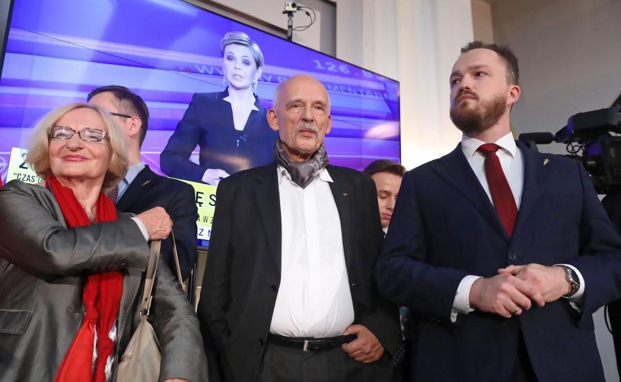 Janusz Korwin-Mikke, Sławomir Tumanowicz, Krystyna Krzekotowska