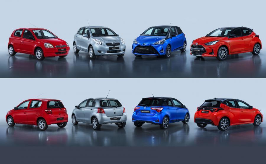 Toyota Yaris - cztery pokolenia