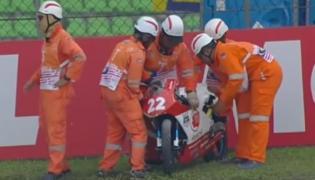 Wypadek na torze Sepang