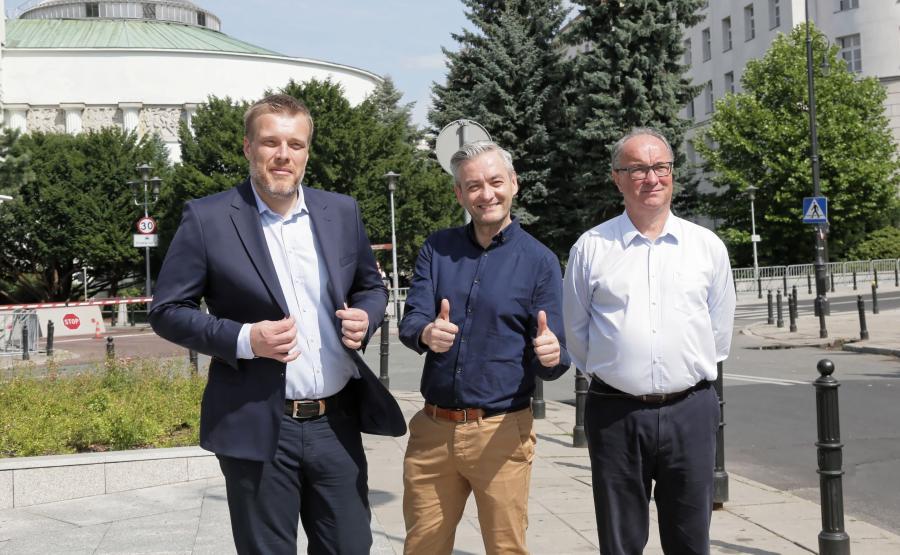 Adrian Zandberg, Robert Biedroń i Włodzimierz Czarzasty