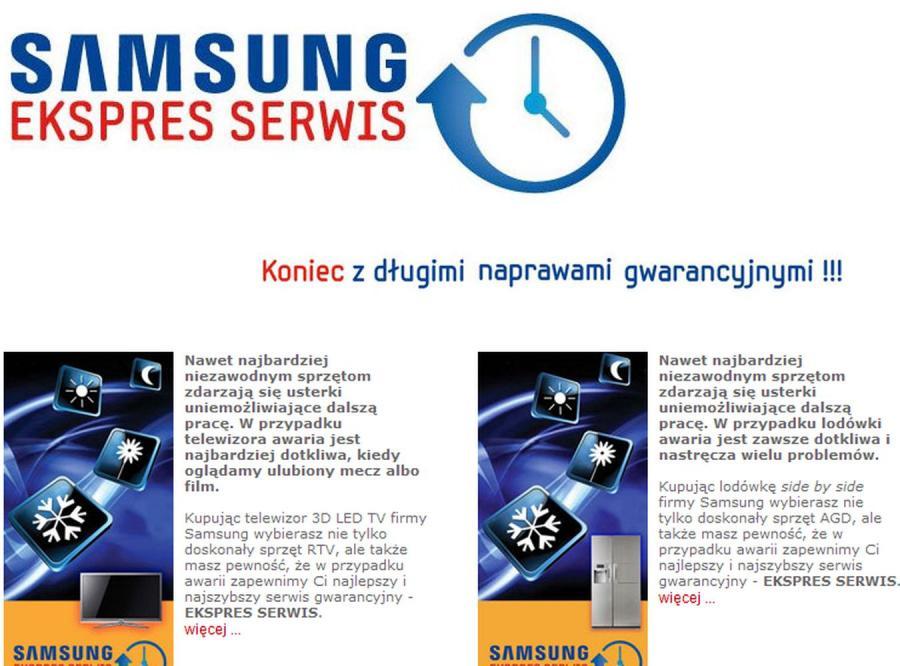 Rewelacyjna gwarancja od Samsunga