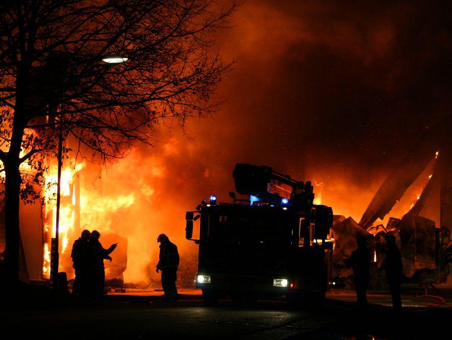 Akcja gaśnicza straży pożarnej