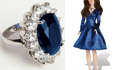 Pierścionek i lalka Kate Middleton