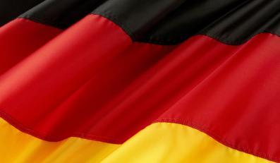 Niemiecka flaga - zdjęcie ilustracyjne