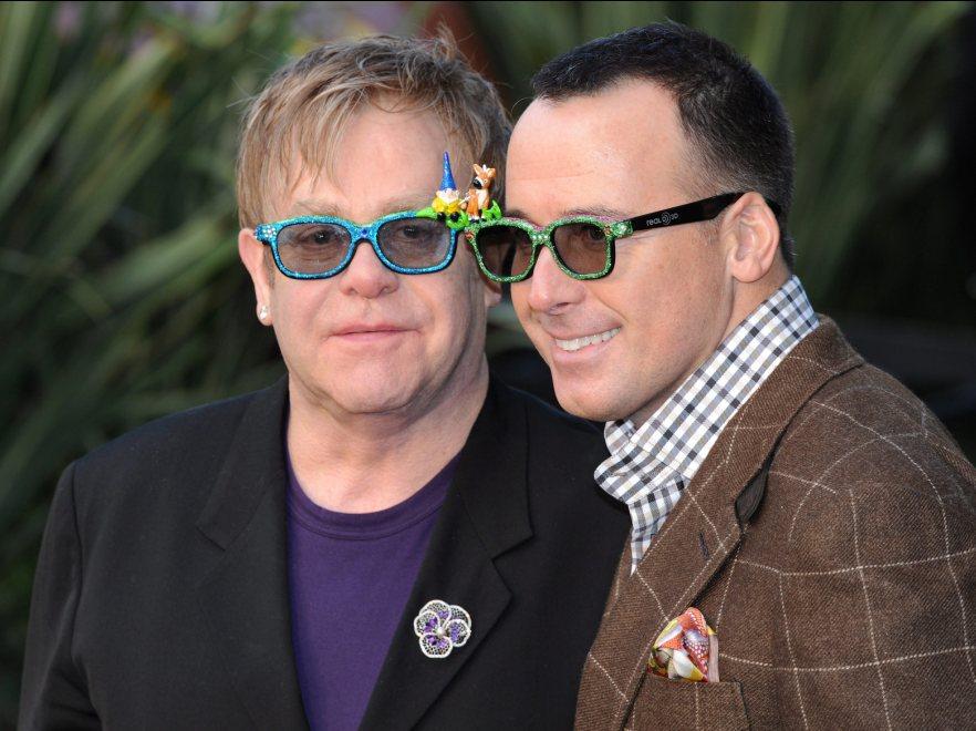 Elton John z partnerem
