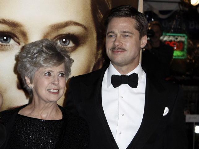 Brad Pitt z mamą Jane