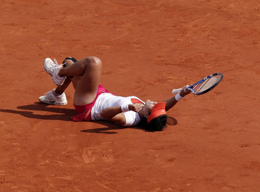 Tak Chinka cieszyla się po zwycięstwie na kortach Rolanda Garrosa