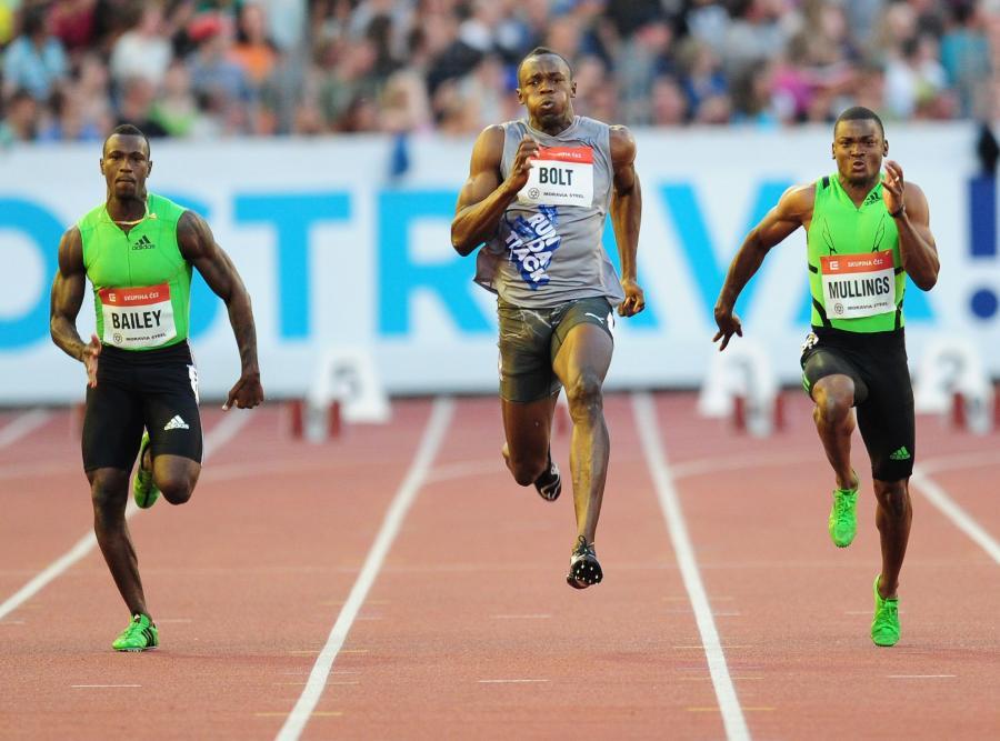 Usain Bolt (w środku)