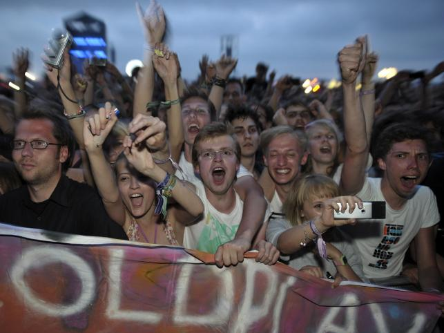 Publiczność podczas koncertu Coldplay'a
