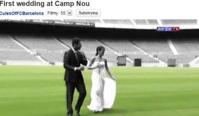 Pierwszy ślub na Camp Nou