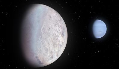 Neptun ze swym największym księżycem - Trytonem
