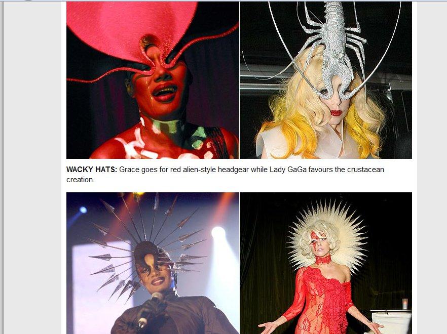 Lady GaGa kopiuje cudzy styl? Wokalistka łudząco podobna do Grace Jones. Źródło: The Sun