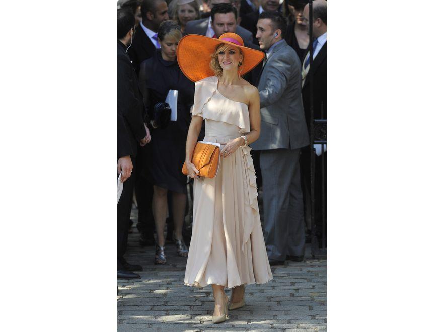 Telewizyjna aktorka Katherine Kelly na ślubie Zary Phillips, wnuczki królowej Elżbiety II