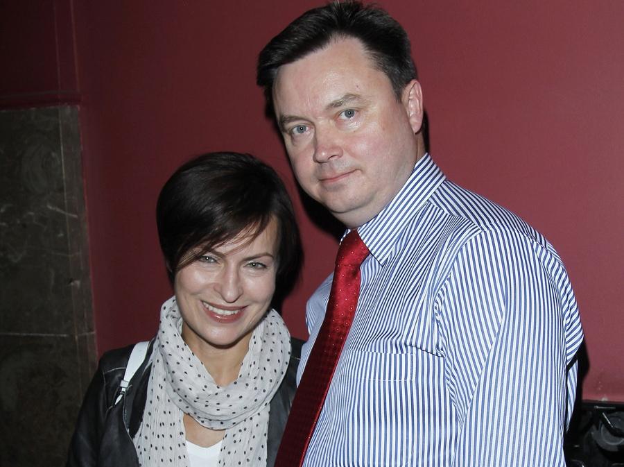Danuta Stenka z mężem