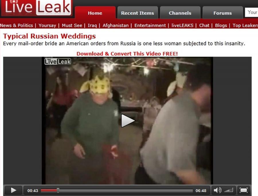 Tak na weselach bawią się Rosjanie
