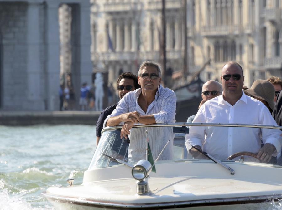 George Clooney jużw Wenecji