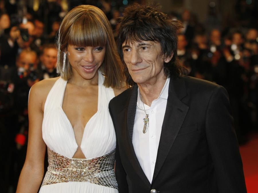 Ana Araujo i Ronnie Wood