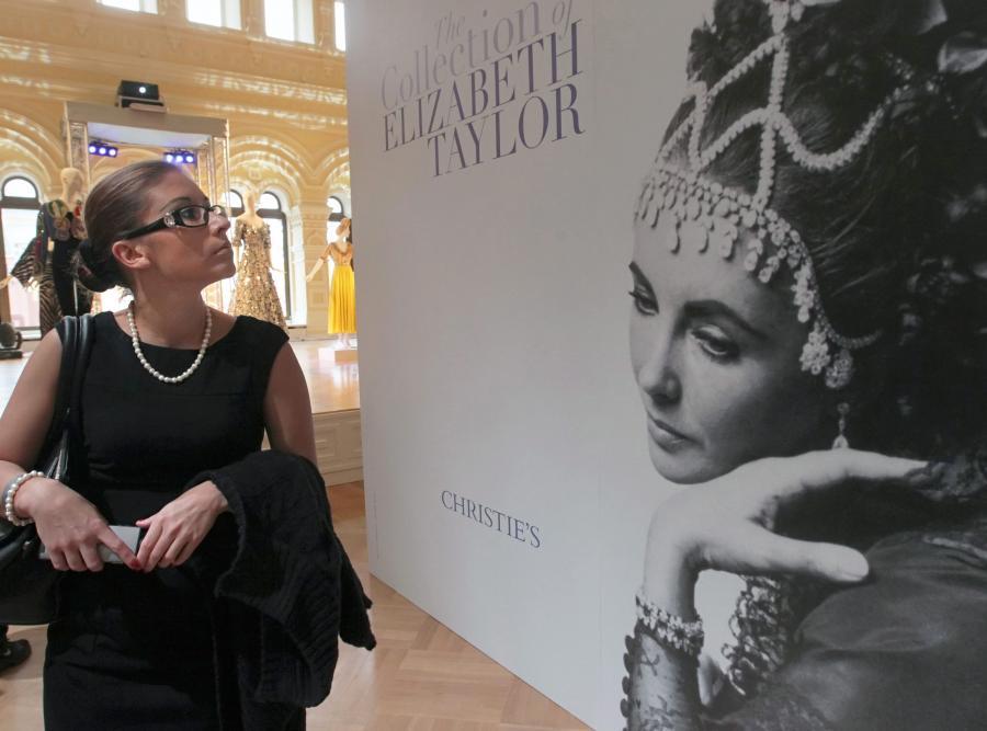 Wystawa pamiątek po Elizabeth Taylor w Moskwie