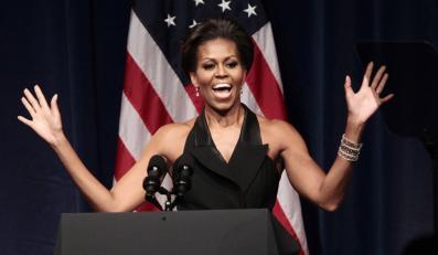 Michelle Obama lubi gubić się w tłumie zwykłych ludzi.