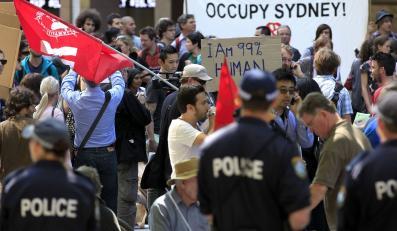 """Protest """"oburzonych"""" w Sydney"""